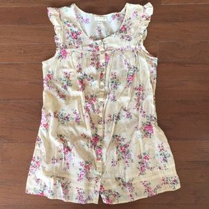 Mine, tank, floral 1X fits like large